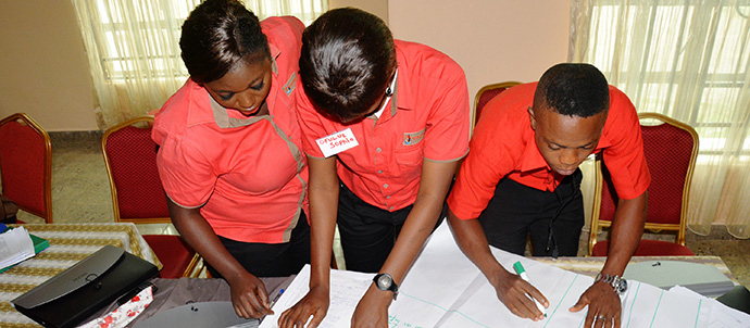 Another group of participants doing thier group work