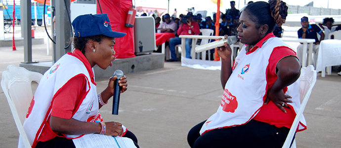 Drama at Project Launch site by Trained Peer Educators