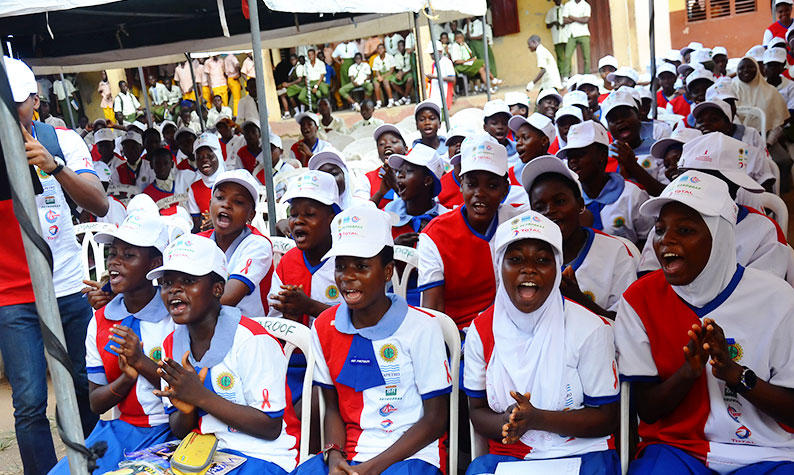 Students of Girls Senior Academy at the event